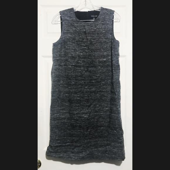 2cf8a20608f Eileen Fisher Organic Silk   Linen Shift Dress XS